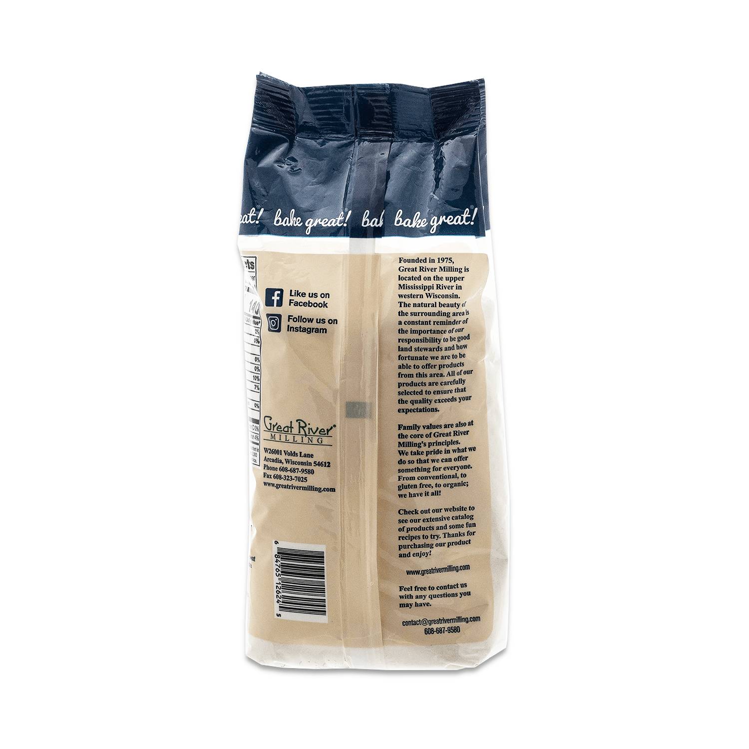 great river milling brown rice flour 24oz back