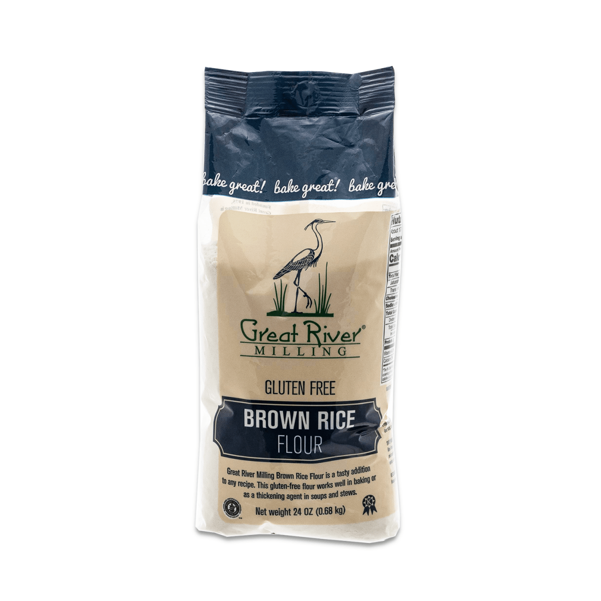 great river milling brown rice flour 24oz case open