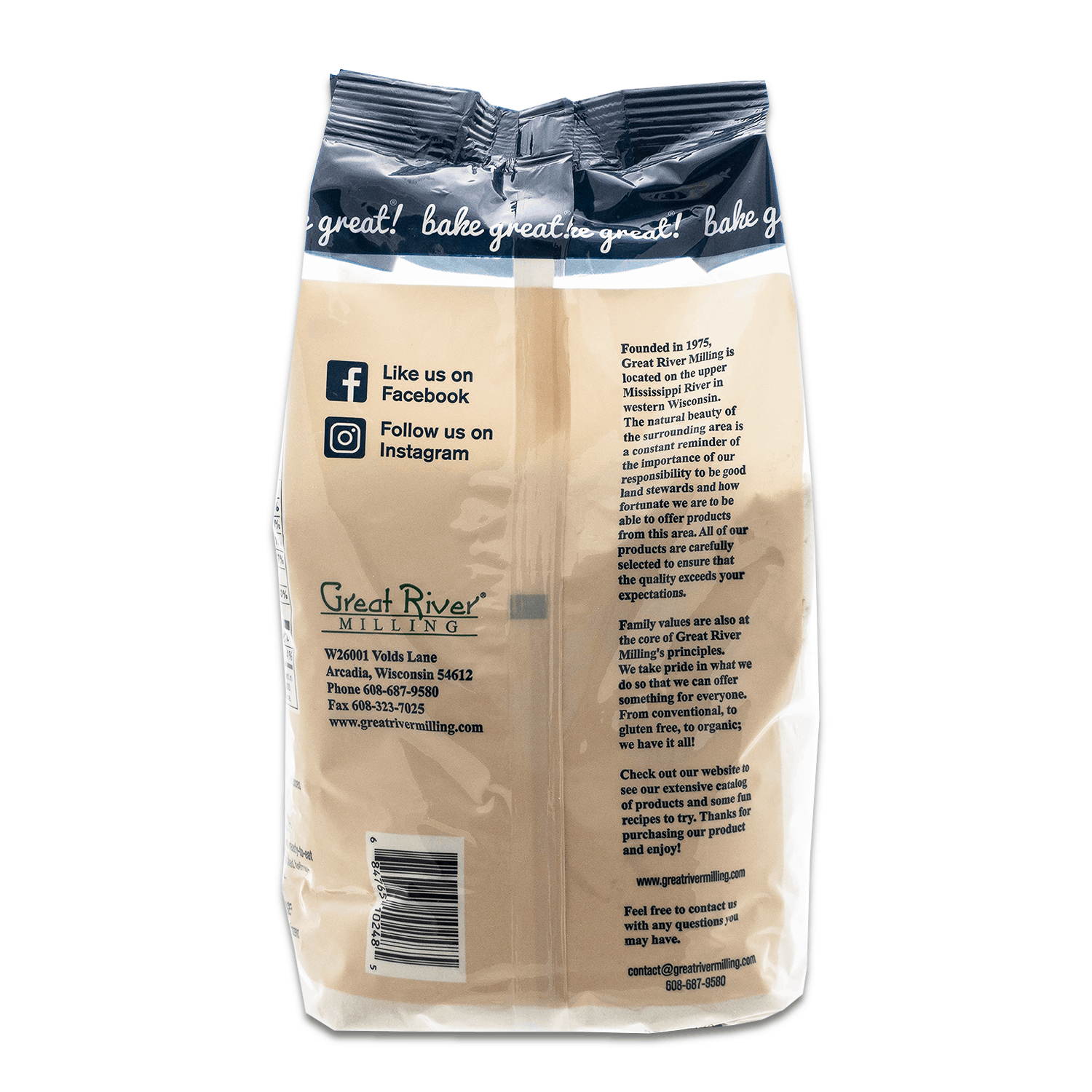 great river milling brown rice flour 48oz back
