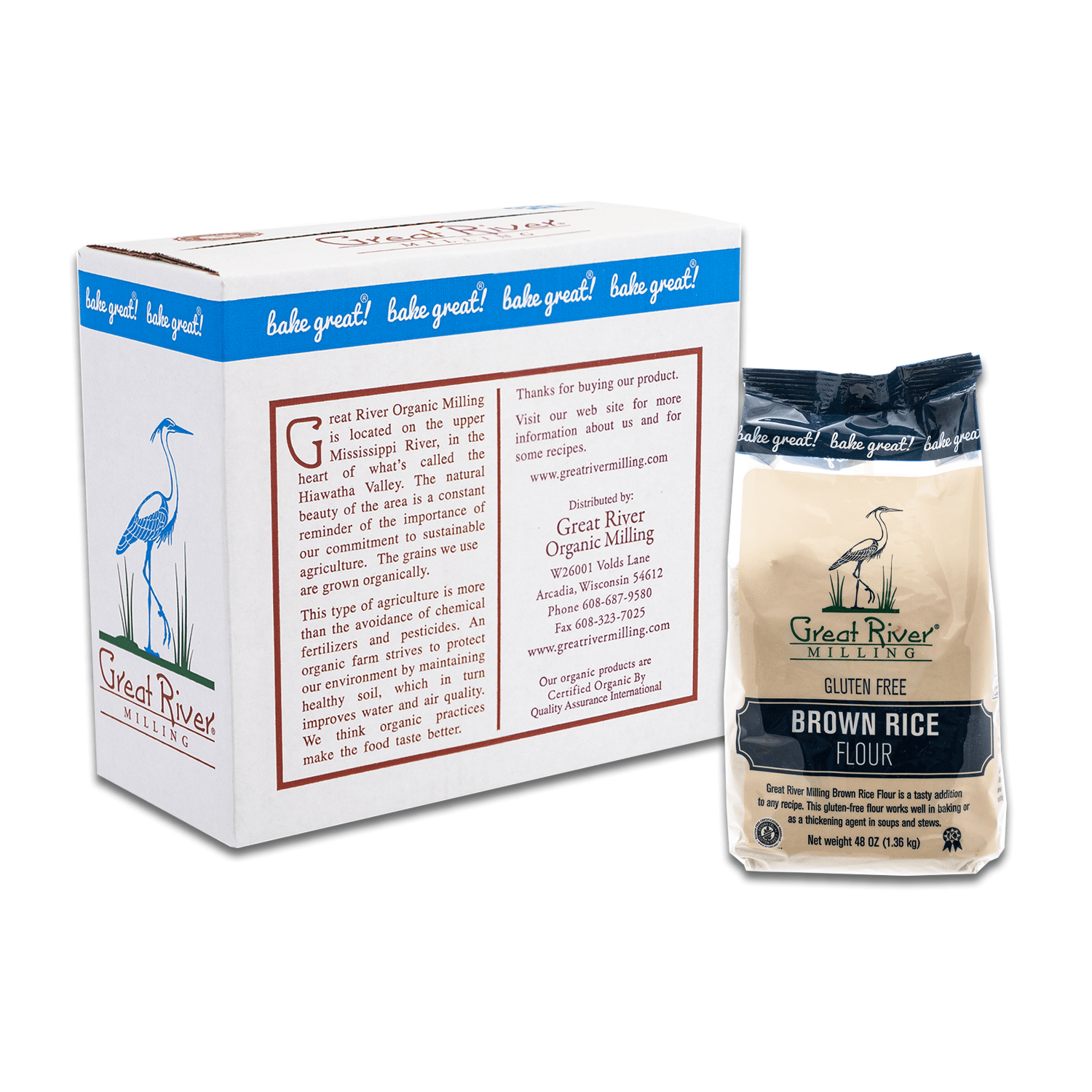 great river milling brown rice flour 48oz case closed