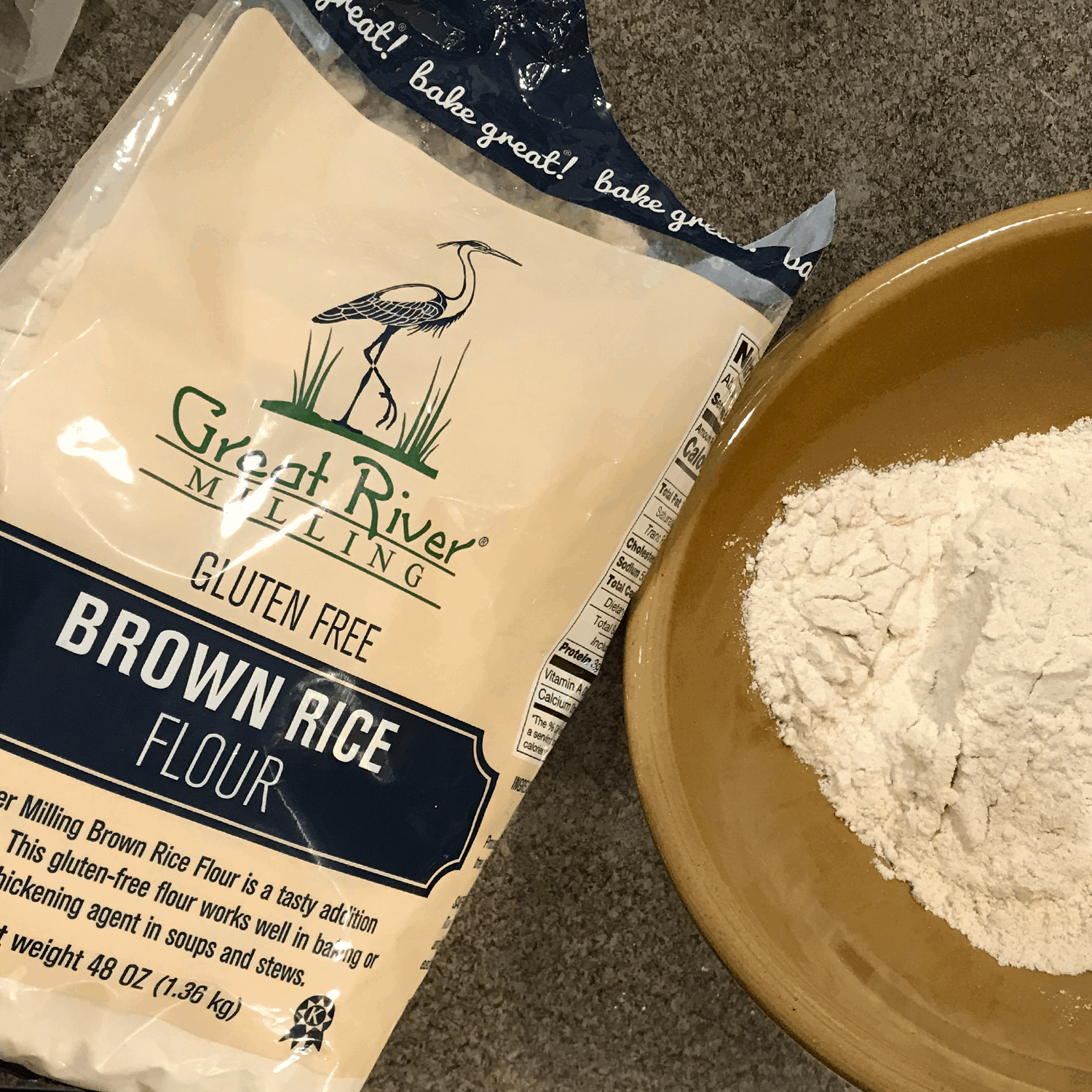 great river milling brown rice flour 48oz lifestyle