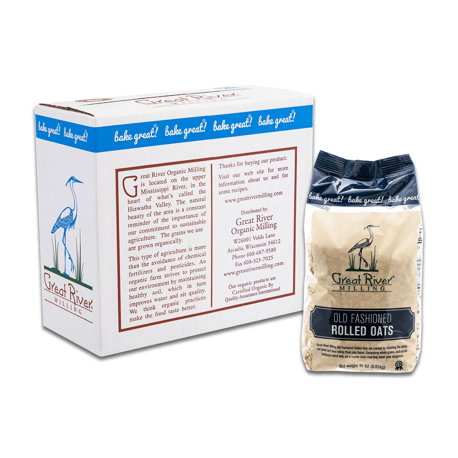great river milling thick rolled oats case sealed