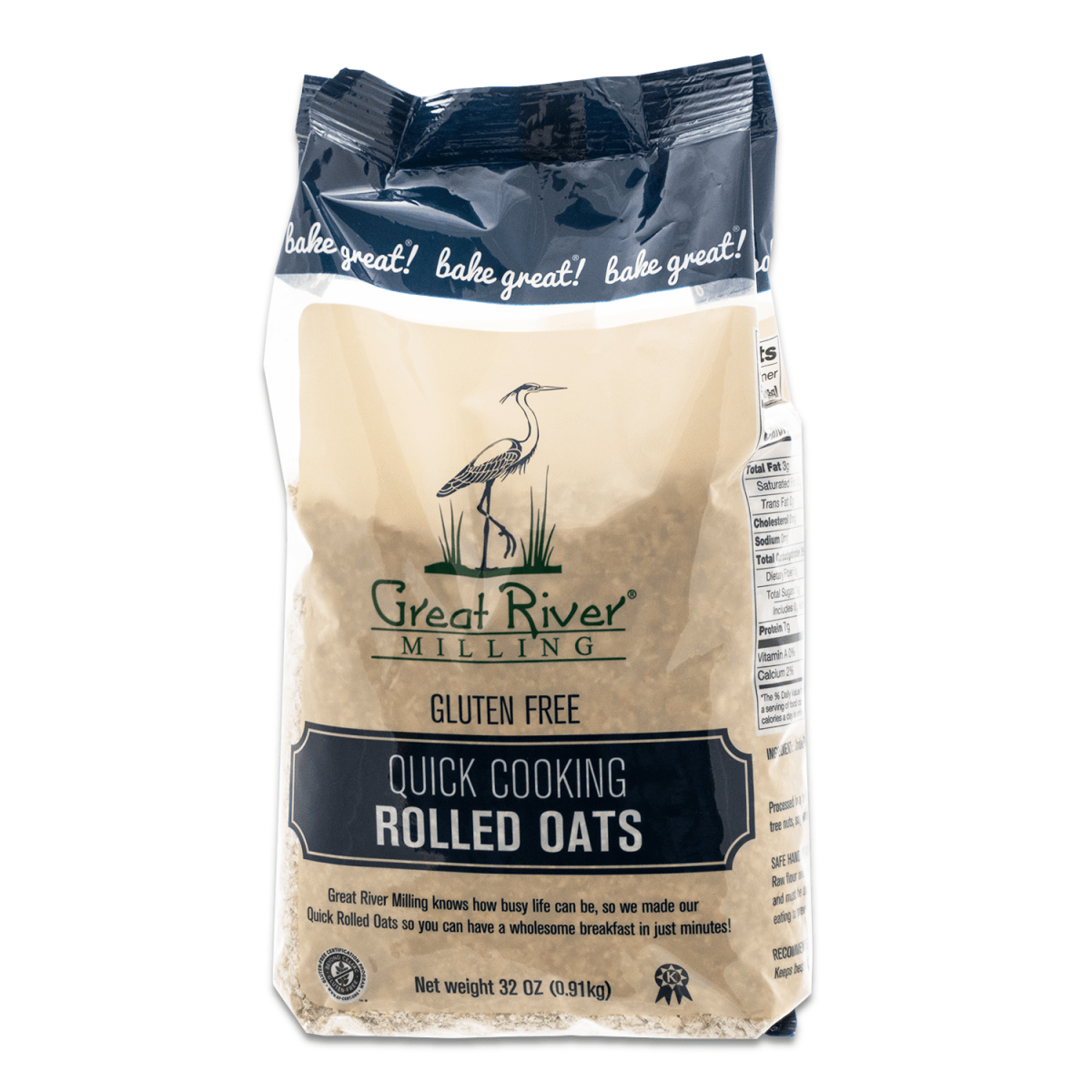 Great River Milling, GF, Quick Cooking Rolled Oats