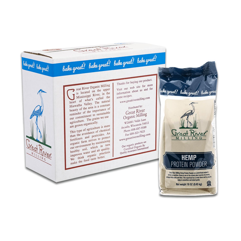 Great River Milling Hemp Protein Powder Case Sealed
