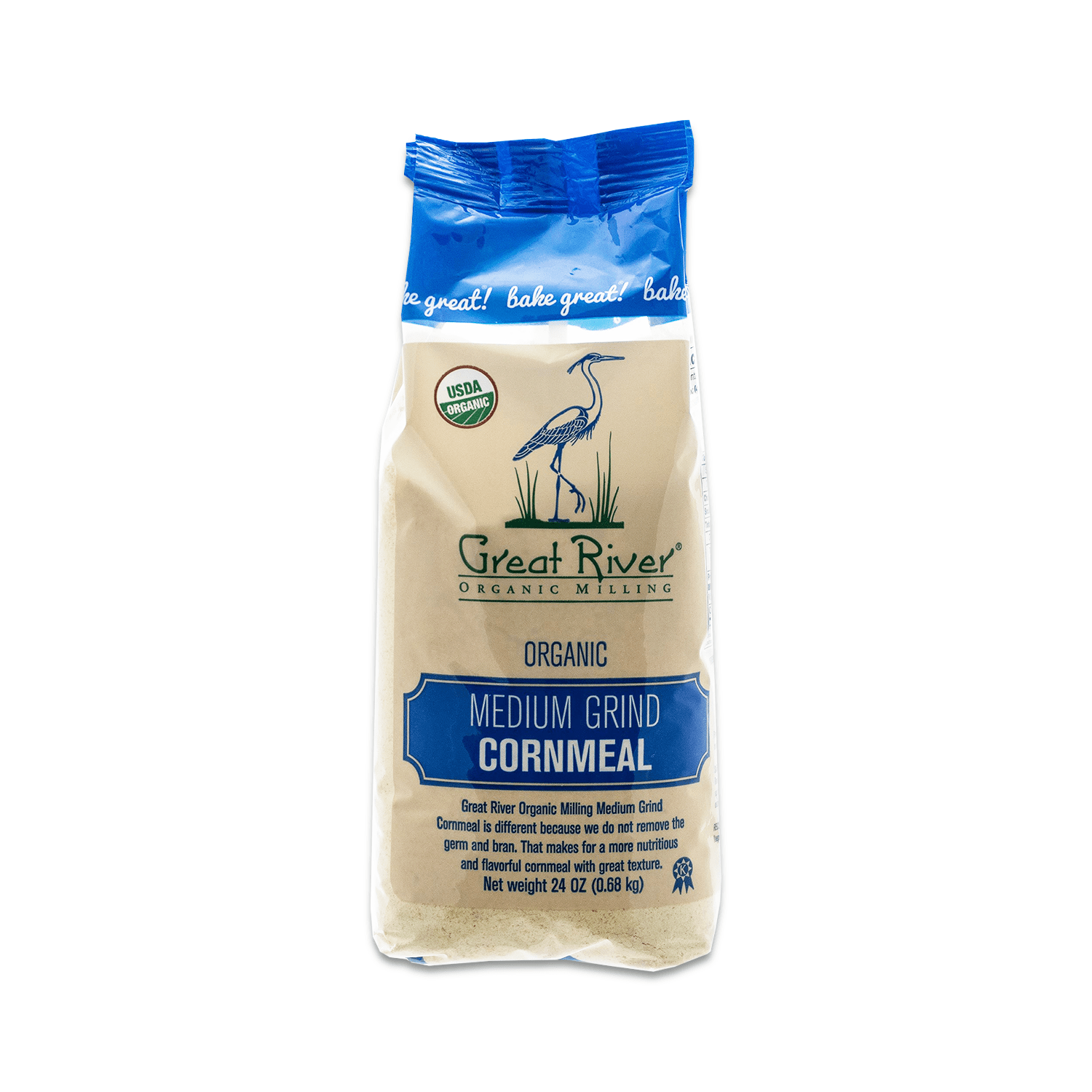 Great River Organic Milling Medium Grind Cornmeal