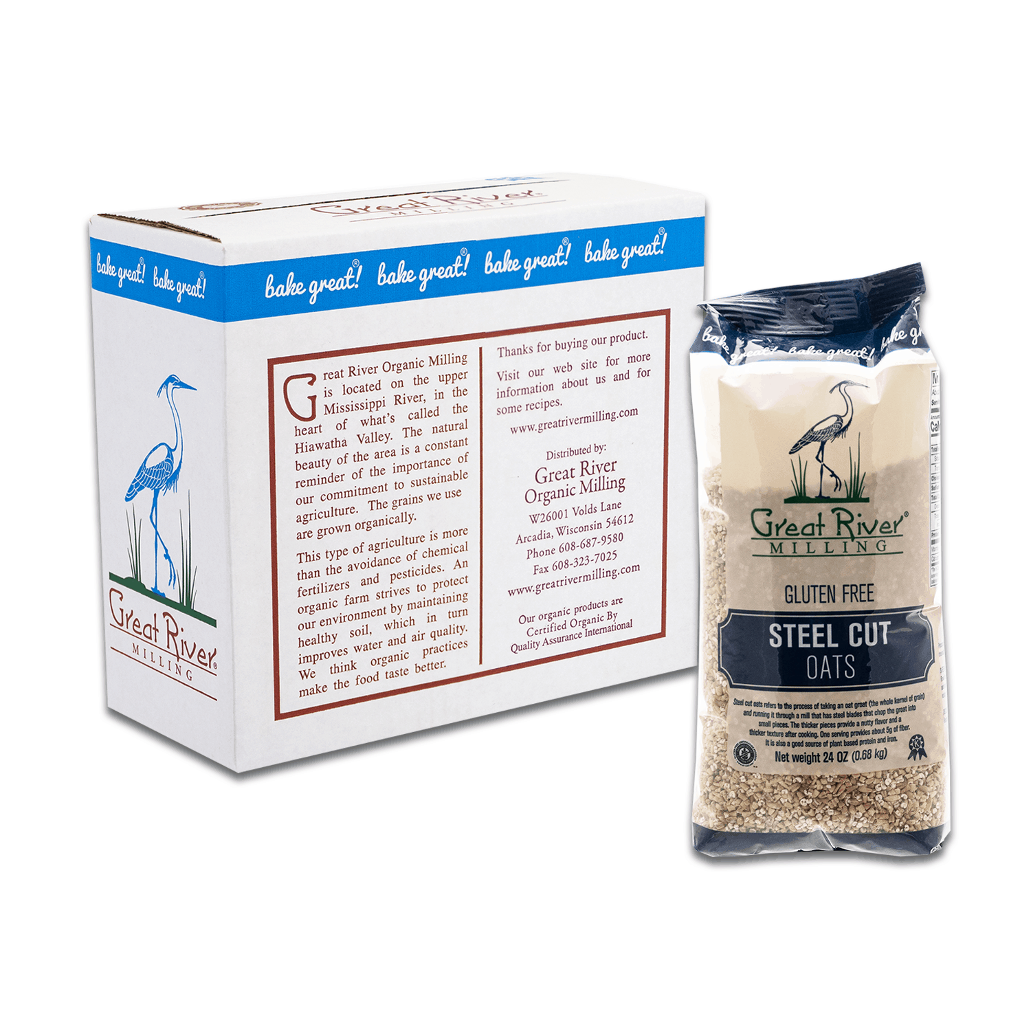 great river milling steel cut oats case sealed