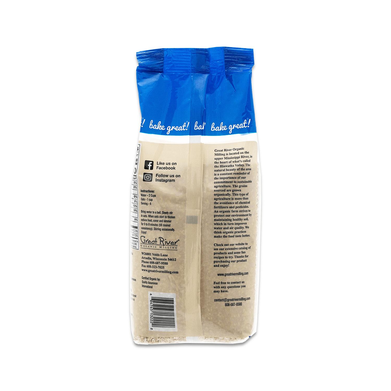 great river organic milling steel cut oats back