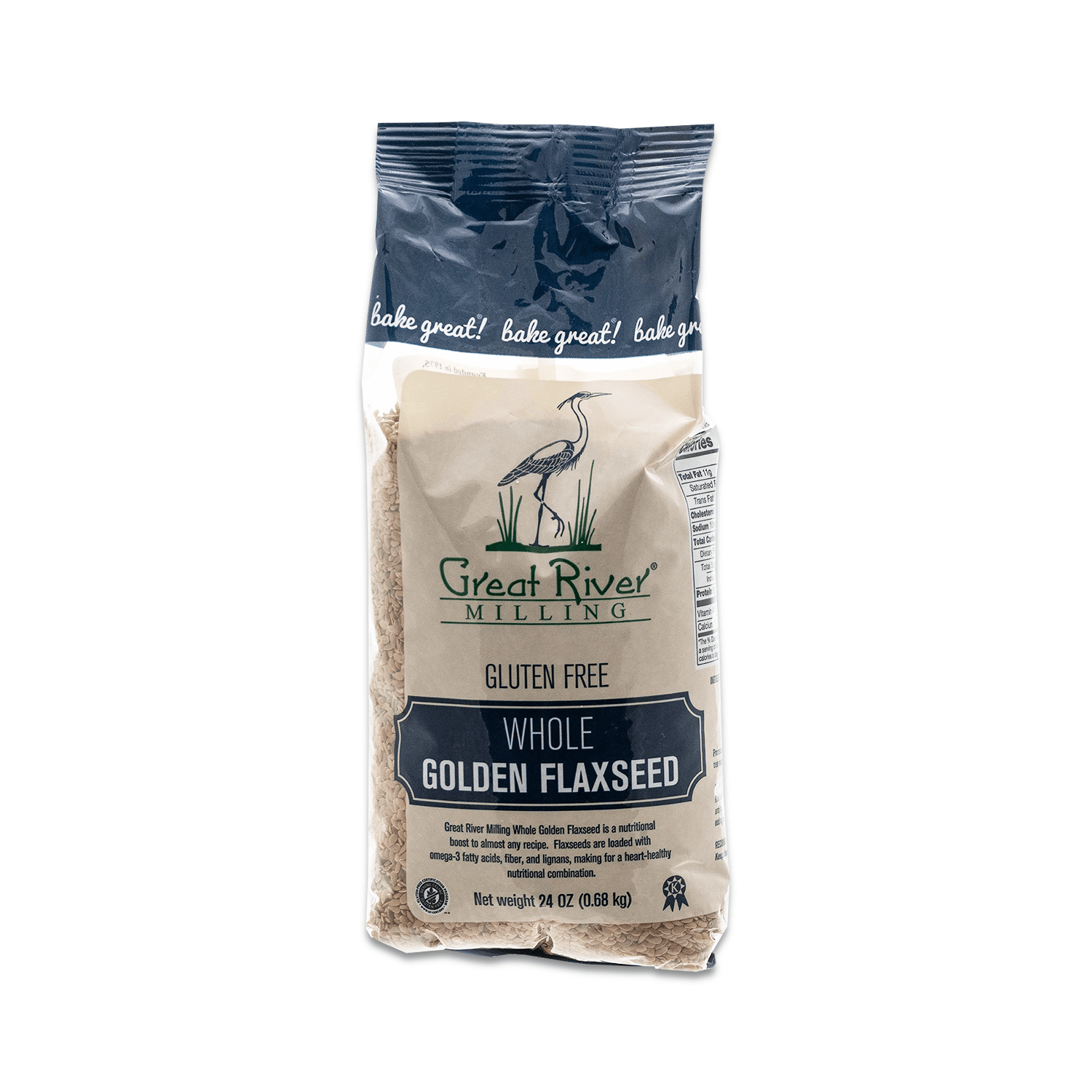 Great River Milling, GF, Whole Golden Flaxseed