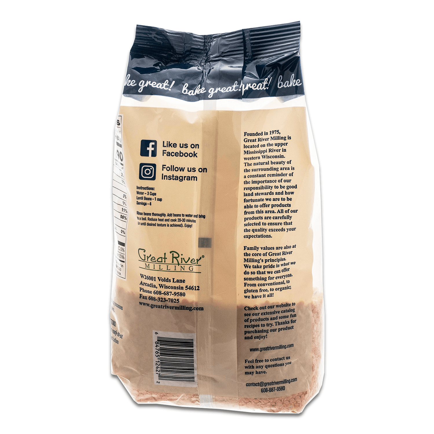 Great River Milling Red Lentils Back