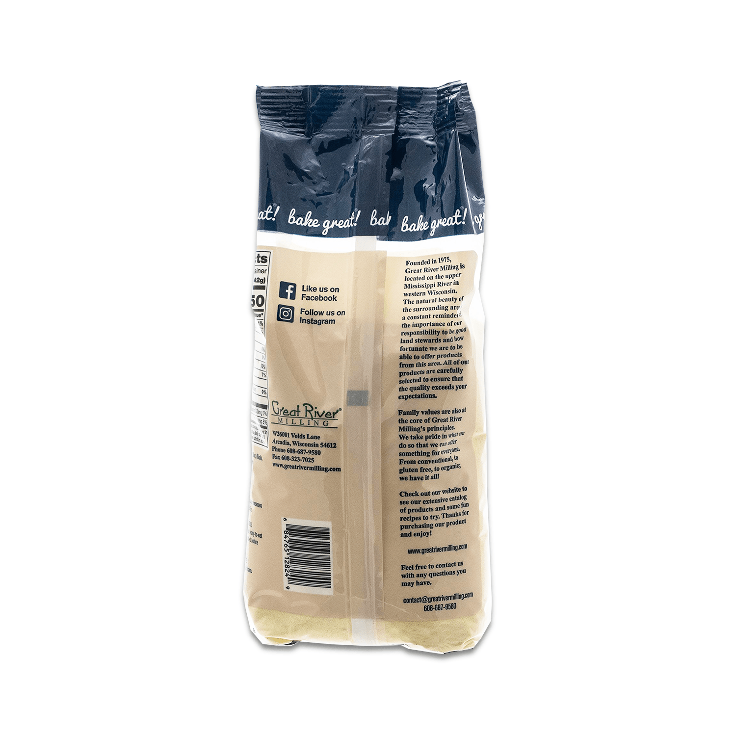 Great River Milling Semolina Pasta Flour Back