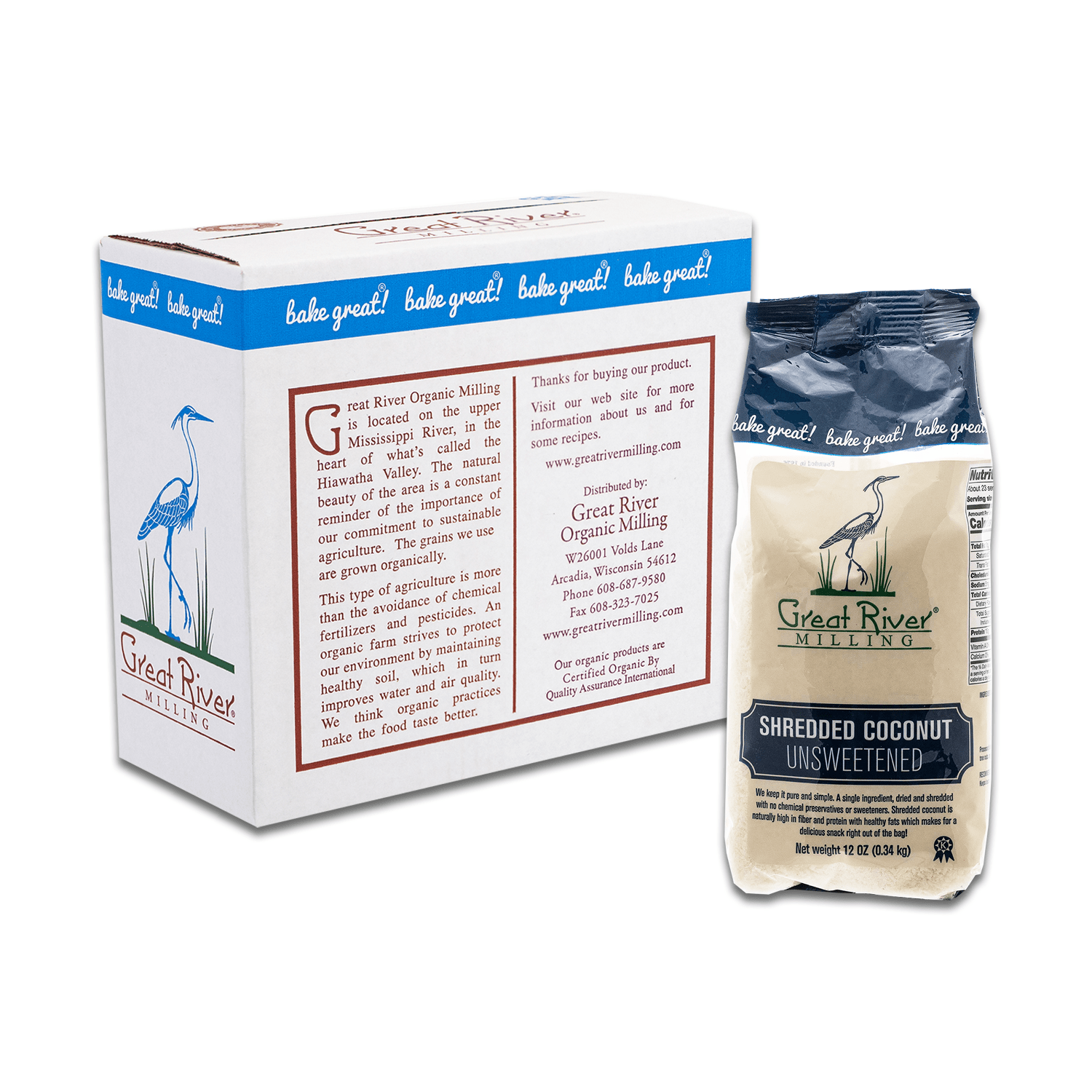 Great River Milling Shredded Coconut Case Sealed