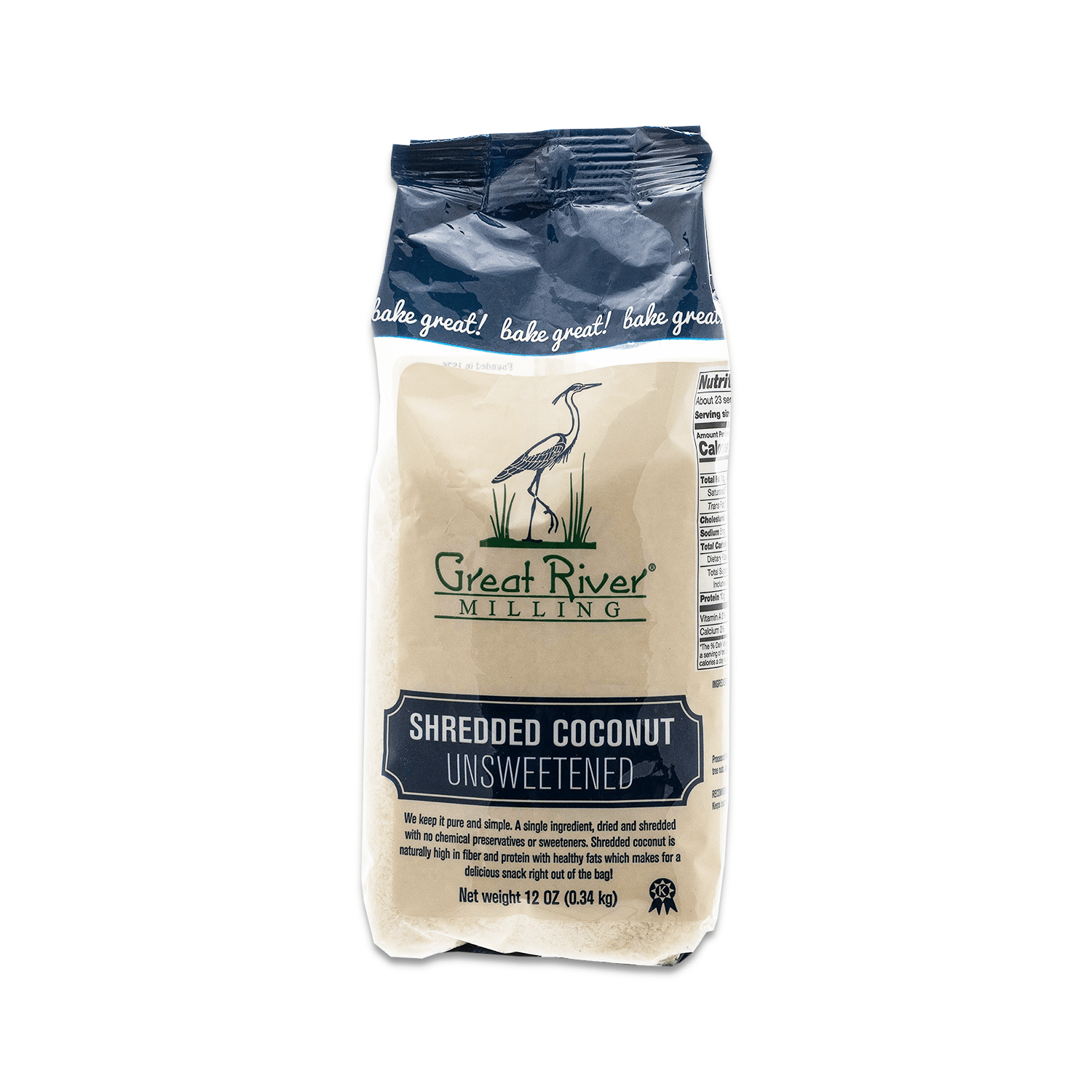 Great River Milling Shredded Unsweetened Coconut