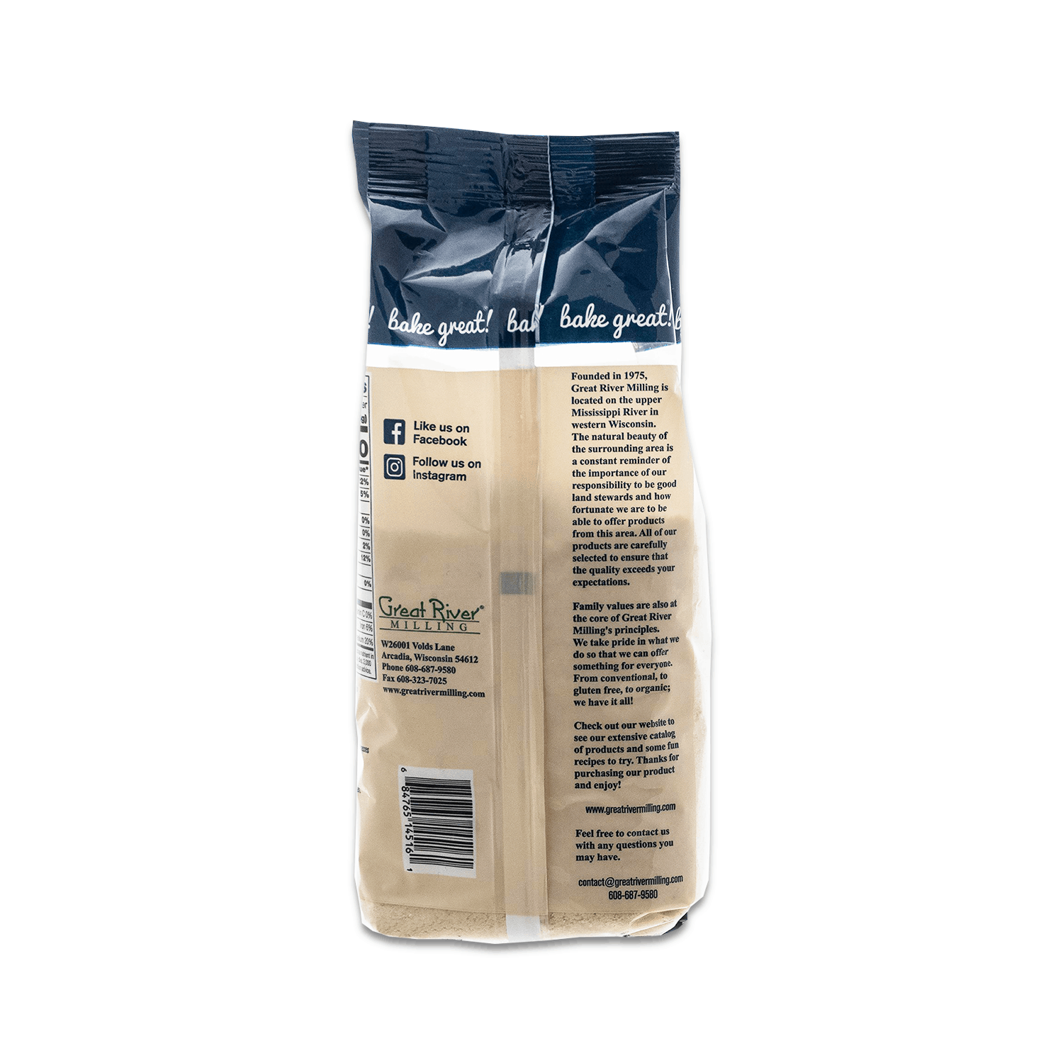 Gluten Free Super-Fine Almond Flour 16oz Back