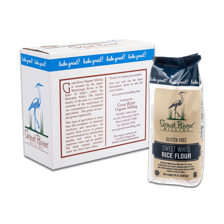 Gluten Free Sweet White Rice Flour 24oz Case Closed