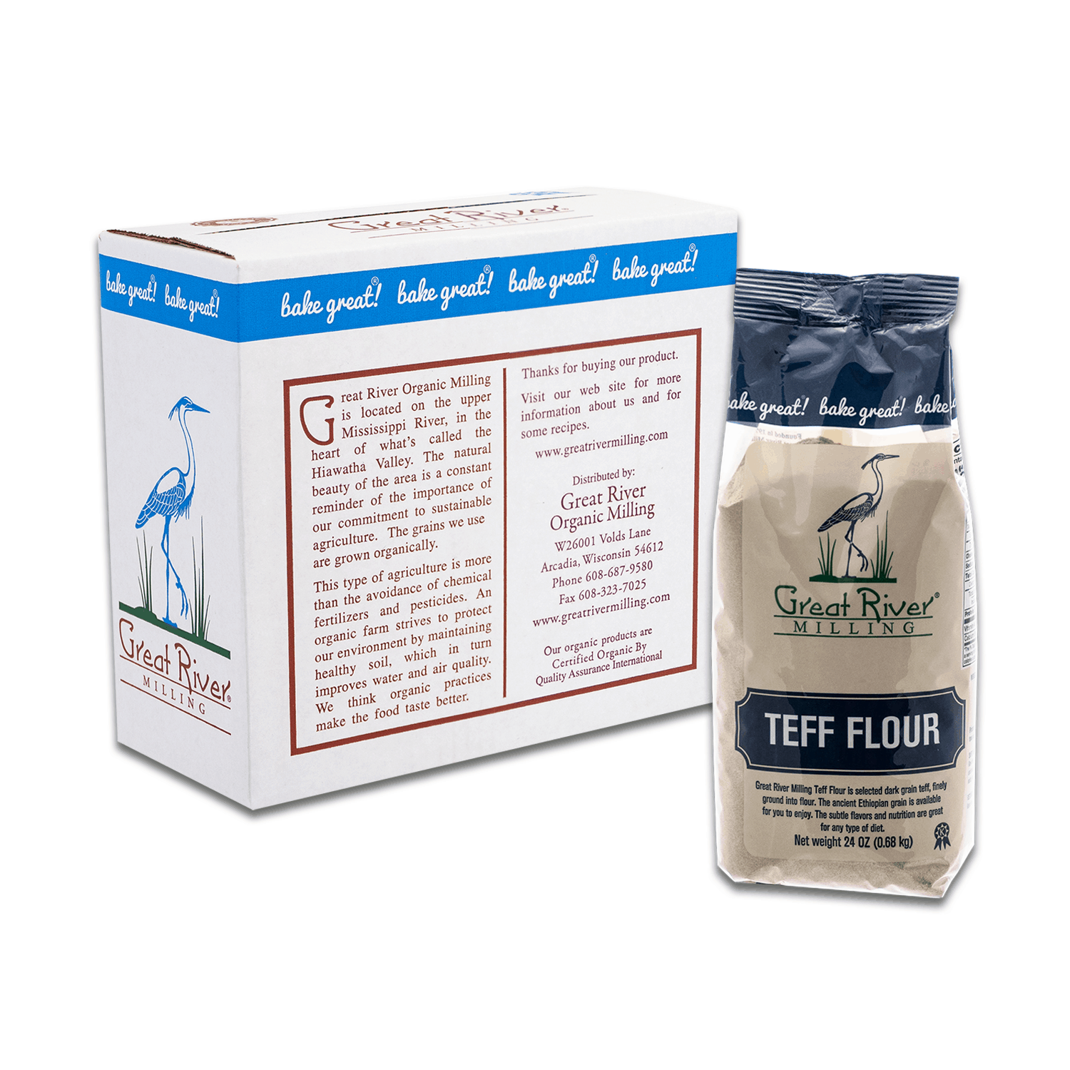 Great River Milling Teff Flour Case Closed
