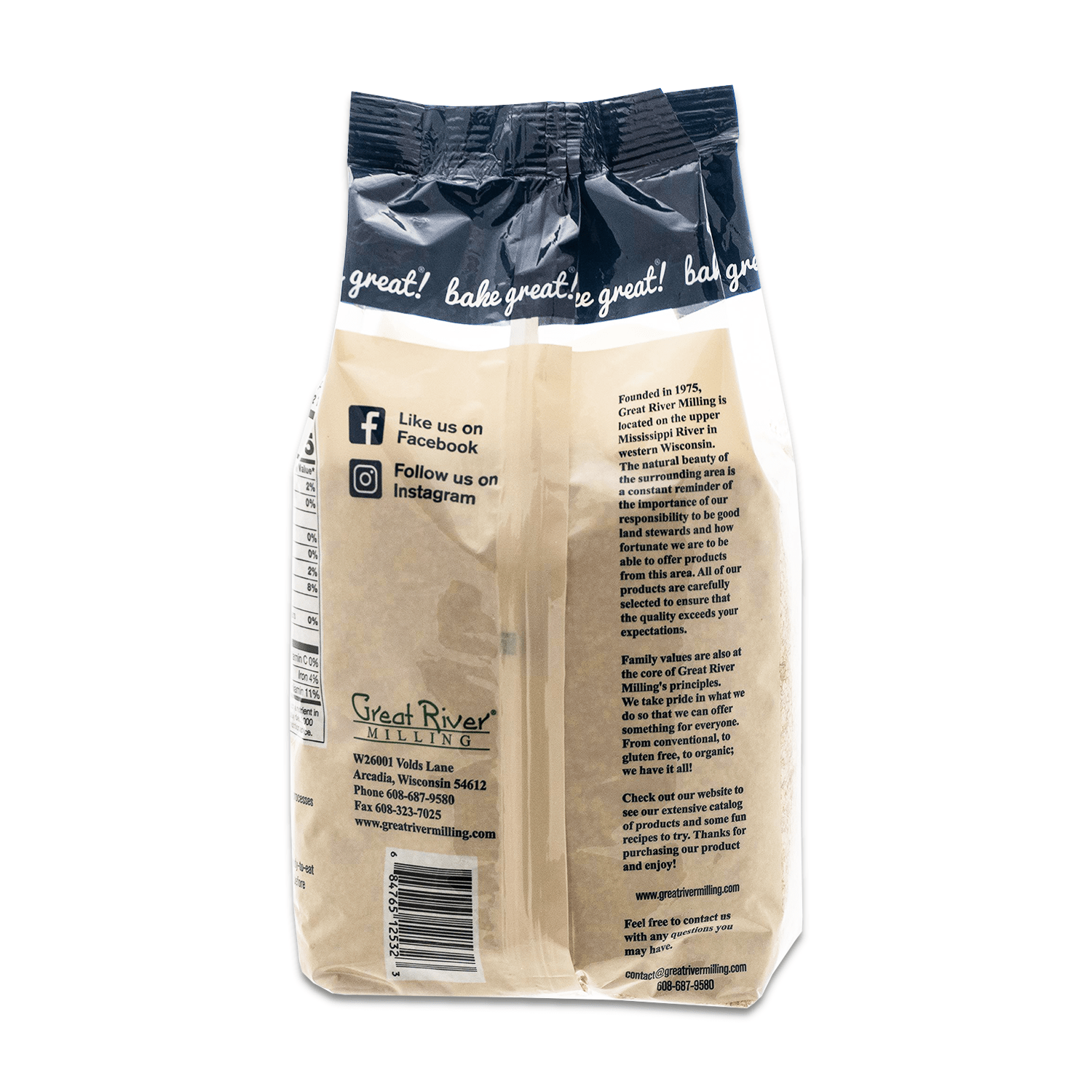 Great River Milling Wheat Germ Back