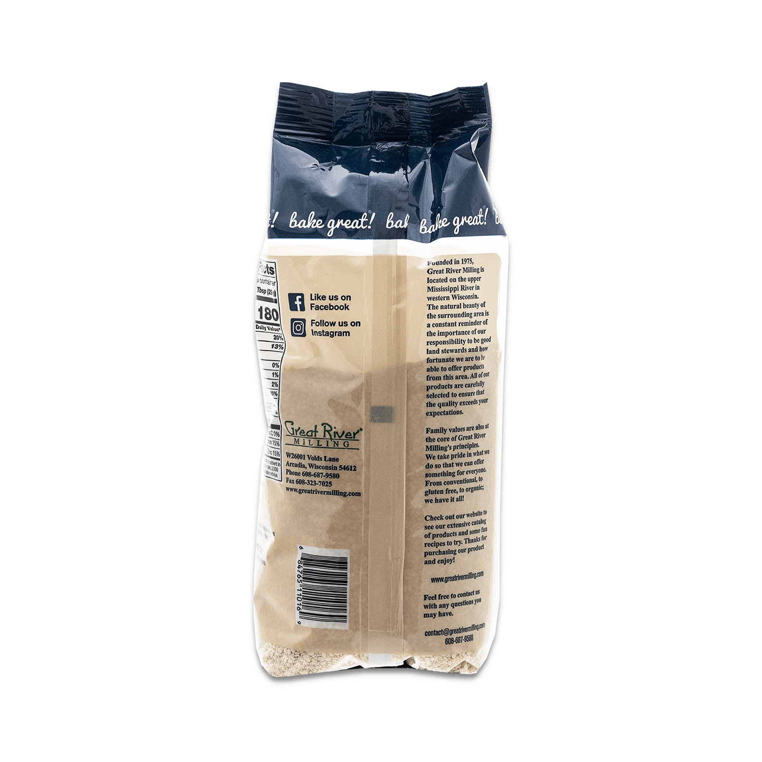 White Sesame Seeds 16oz Back