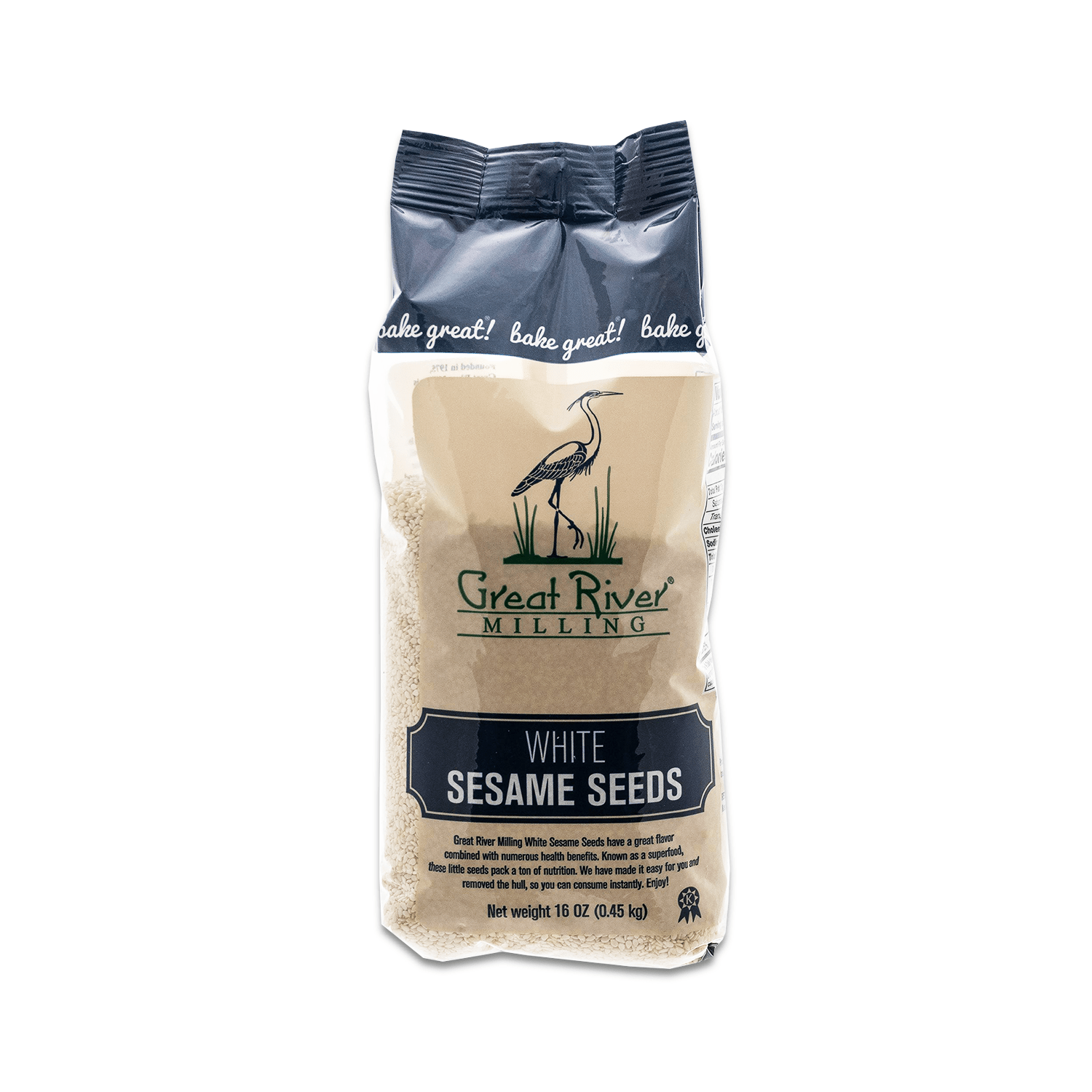 Great River Milling White Sesame Seeds