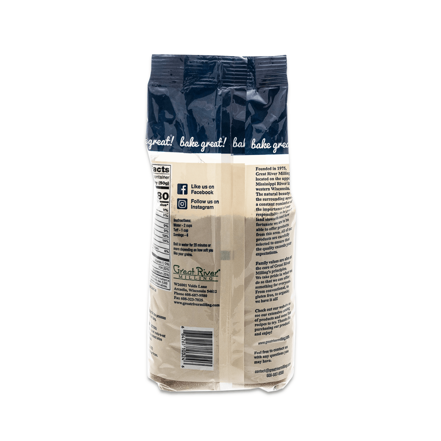 Whole Grain Teff 24oz Back