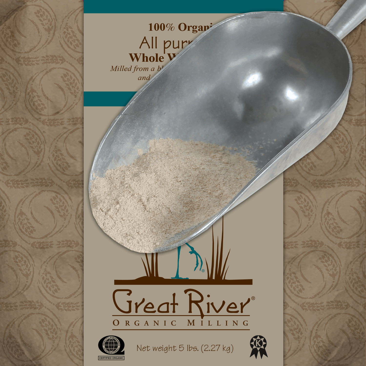 all purpose whole wheat flour scoop