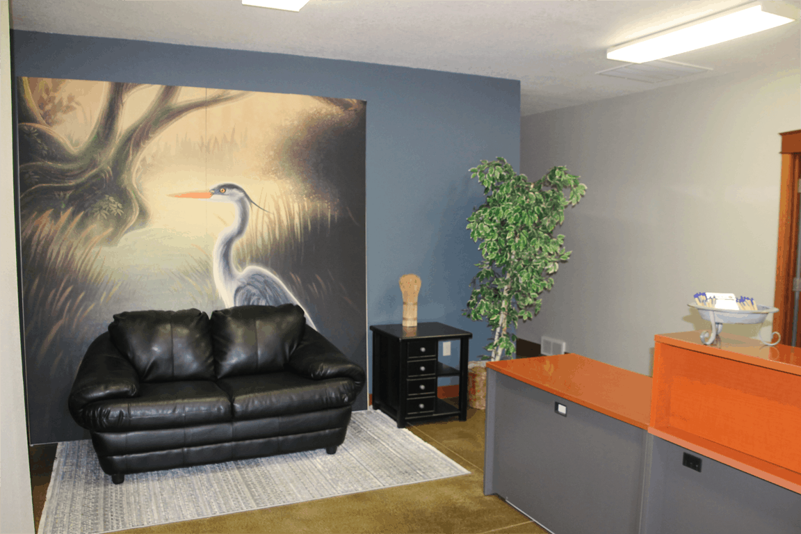 New Office Blue Heron Mural
